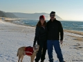 Snowshoeing With The Family At North Barr Beach