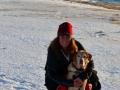 Winter Snowshoe Hike At North Bar Beach