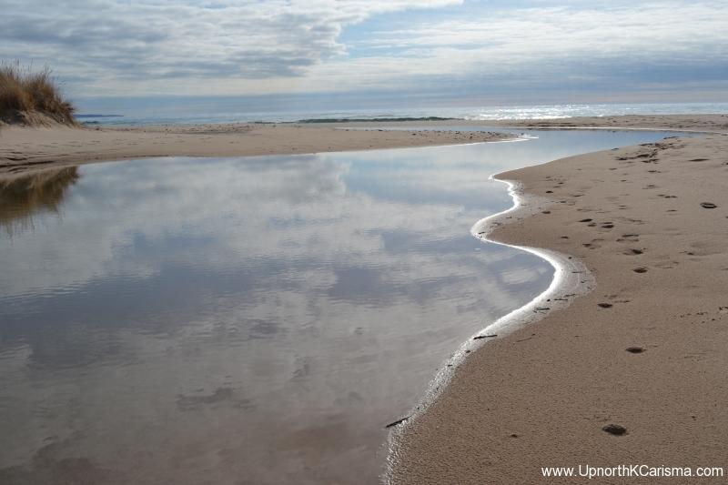 Sparkling Water-Sand Dunes