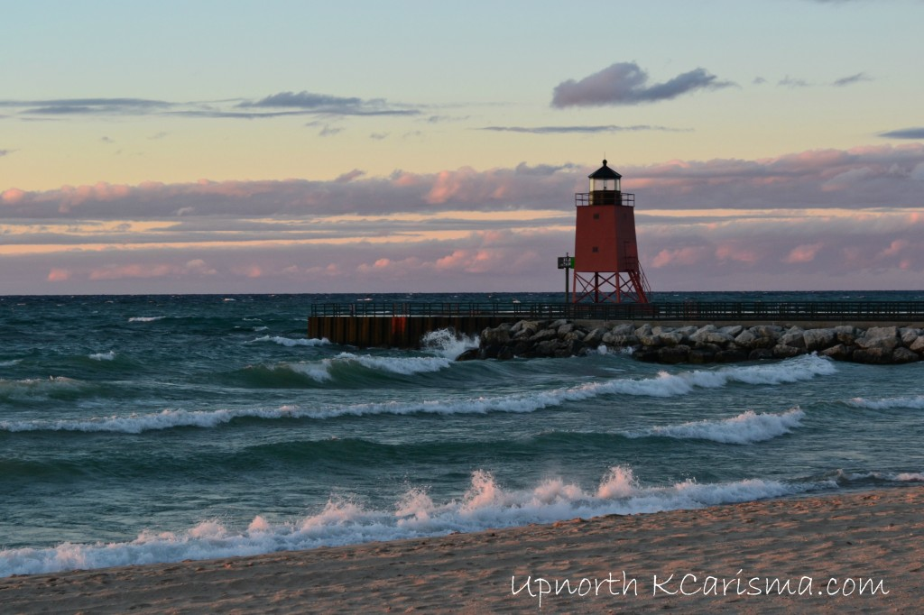 Sunset On The Waves Lake Michigan Charlevoix October 2013 UpnorthKCarisma