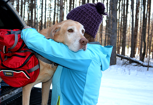 Get your Mush on! Snowshoeing with your dog.